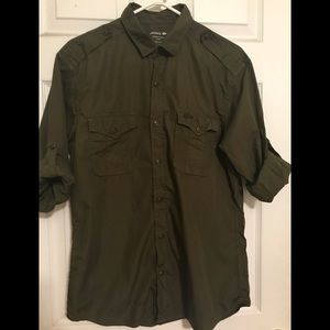 Lacoste Tab Sleeve Button Down Shirt